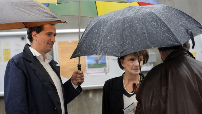 Le conseiller du président de la République, Vincent Feltesse, et l'ex-ministre Michèle Delaunay