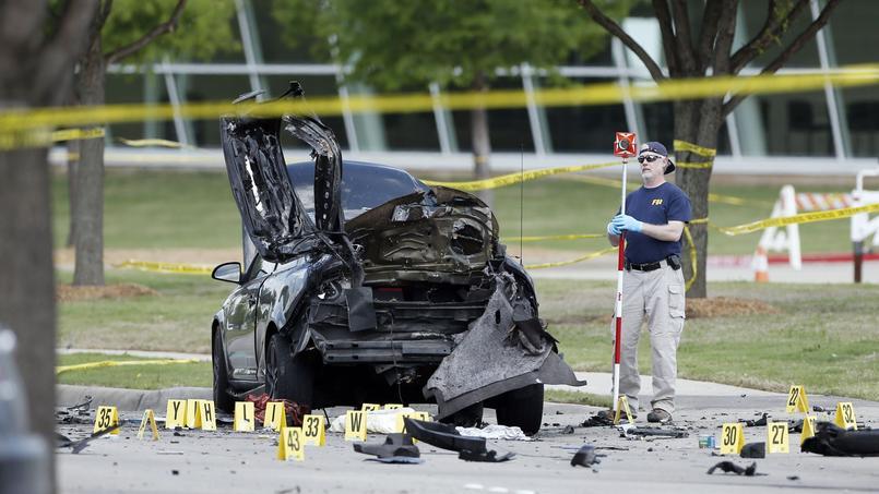 Scène de la fusillade, à Garland, au Texas.
