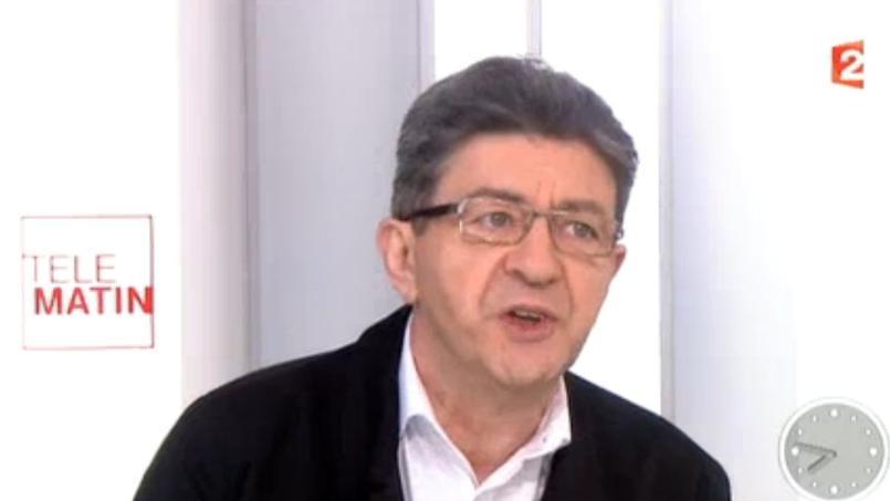 Jean-Luc Mélenchon le 12 mai sur France 2.