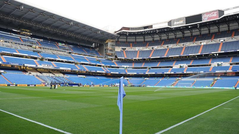 Le stade Santiago Bernabeu situé au coeur de la ville de Madrid.