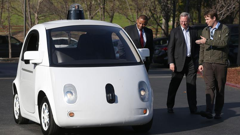 La Google Car sans conducteur.