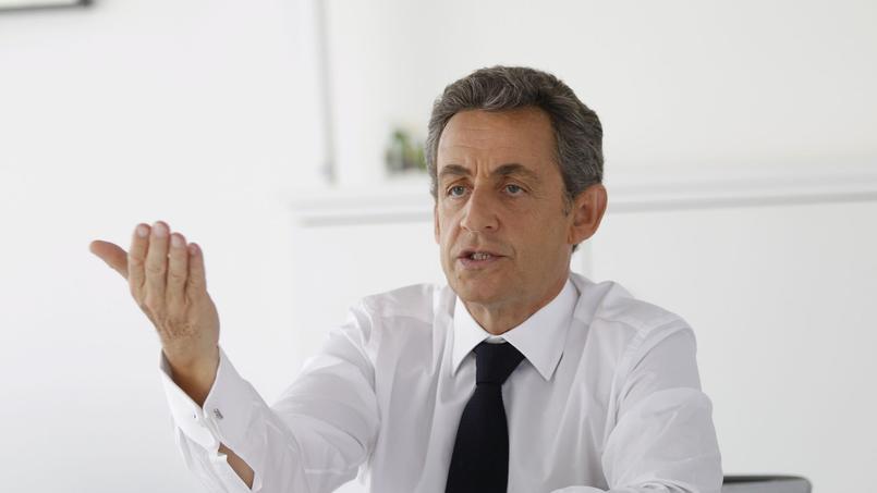 Le président de l'UMP au siège du parti, le 20 mai.