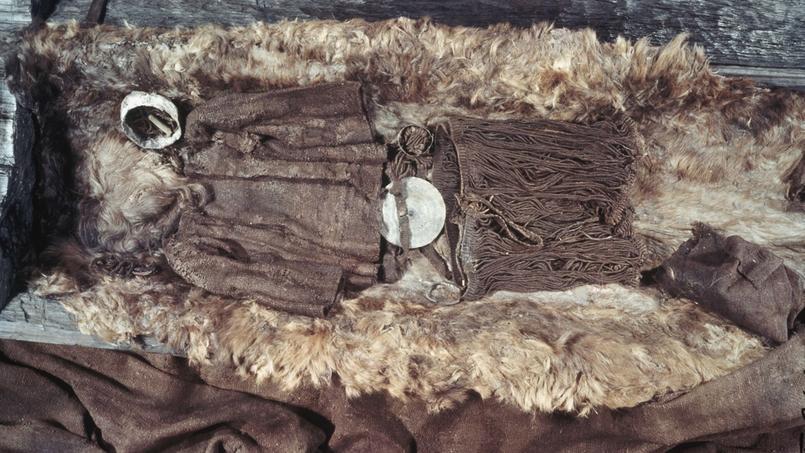 Le cercueil de «Egtved girl», un tronc de chêne évidé, se trouve au Musée national du Danemark, à Copenhague