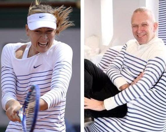 Maria sharapova fan de jean paul gaultier et de la marini re - Jean paul gaultier mariniere ...