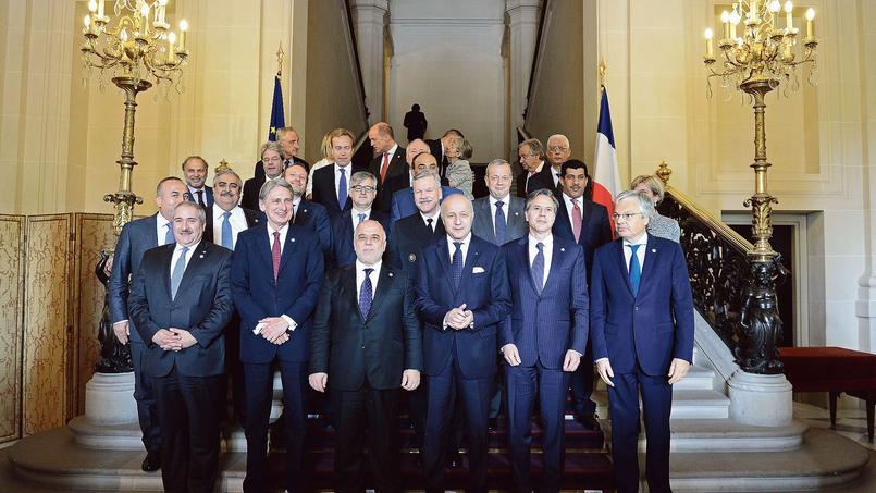 Les ministres des Affaires étrangères de la coalition anti-djihadiste se sont réunis mardi, à Paris.