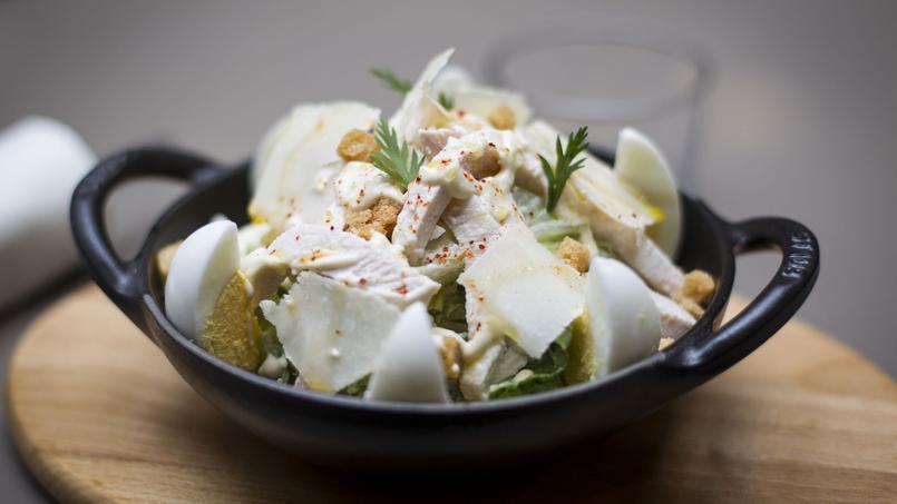 Notre gagnante, la salade Caesar du restaurant Les Cocottes de Christian Constant.