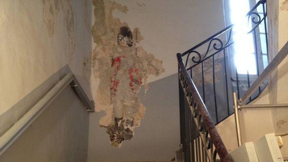 D couverte d 39 une peinture murale anglaise du xviiie si cle for Types de peintures murales