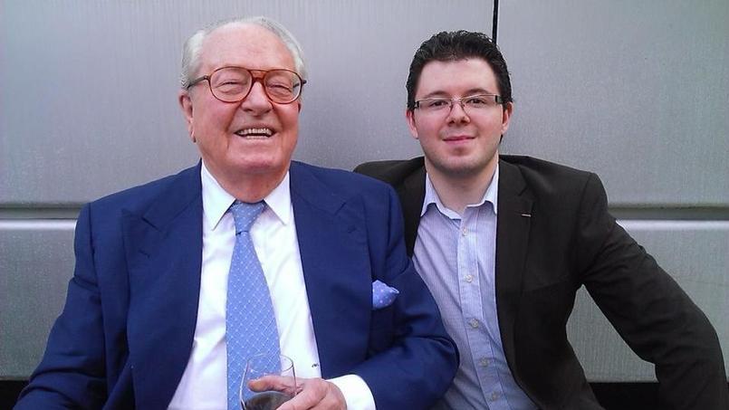Adrien Desport et Jean-Marie Le Pen