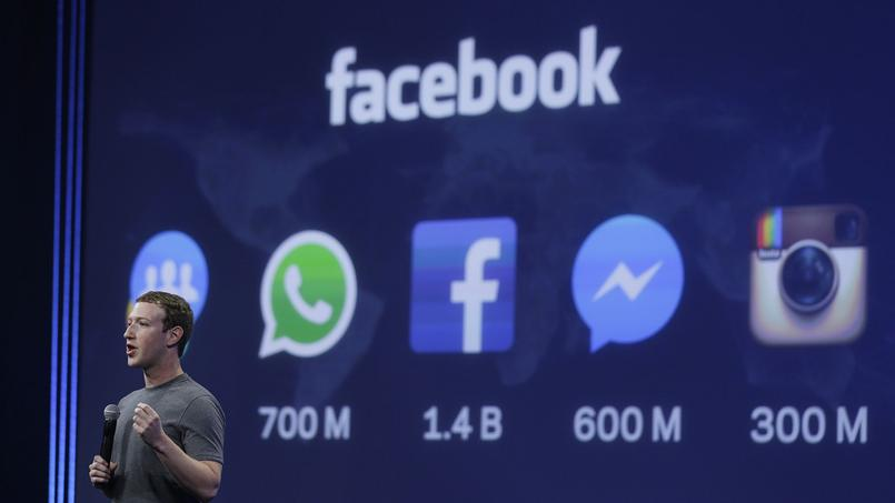 Mark Zuckerberg, PDG de Facebook, qui contrôle également WhatsApp, Messenger, et Instagram.
