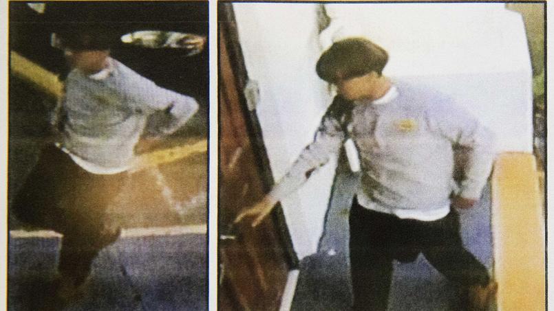 Image du suspect tirée des caméras de vidéosurveillance de Charleston.