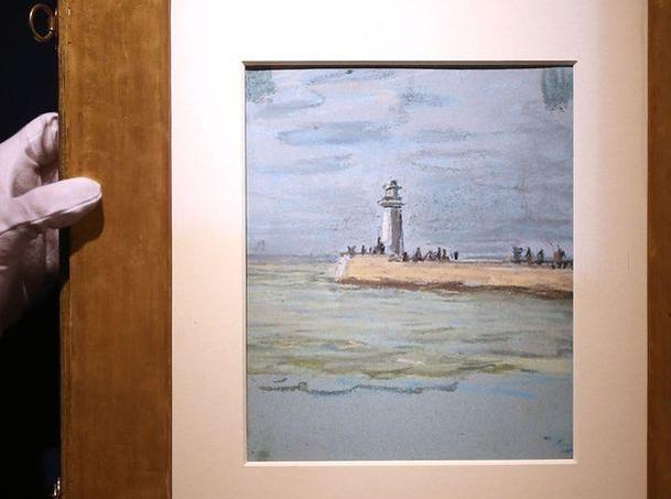 Claude Monet aurait réalisé cette toile jusqu'alors inconnue en 1868.