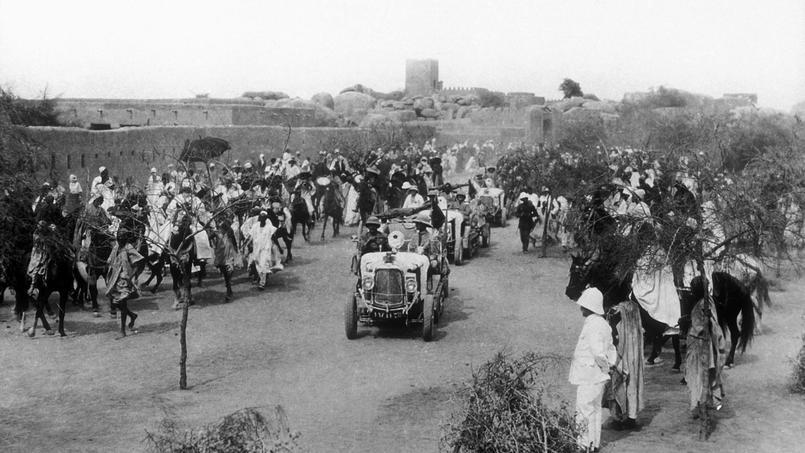 Le convoi des autochenilles lors de la «croisière noire» en 1924.