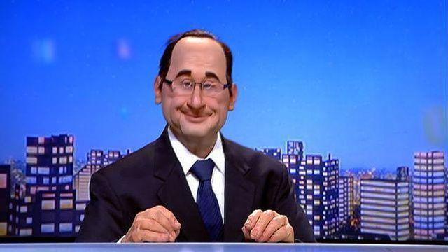 La marionnette de François Hollande - Qu'il est difficile d'être le roi de la France!