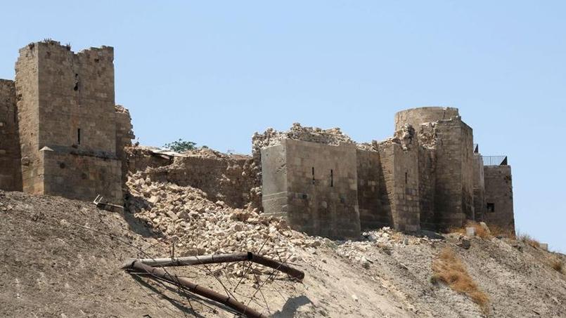 Une section des remparts de la citadelle d'Alep s'est effondrée après l'explosion d'un tunnel.