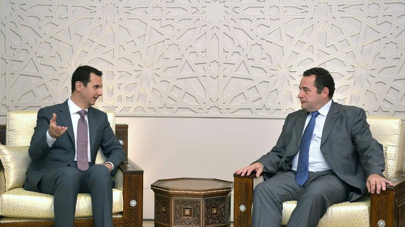 Le président syrien Bachar el-Assad et le député français Chrétien-démocrate Jean-Frédéric Poisson