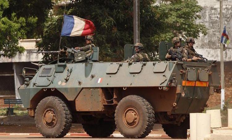 Soldats français à Bangui, décembre 2013