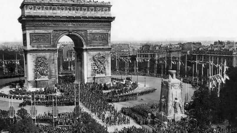 Le «défilé de la victoire», le 14 juillet 1919.