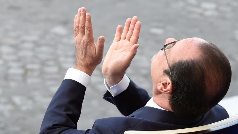 François Hollande lors du défilé du 14 juillet.