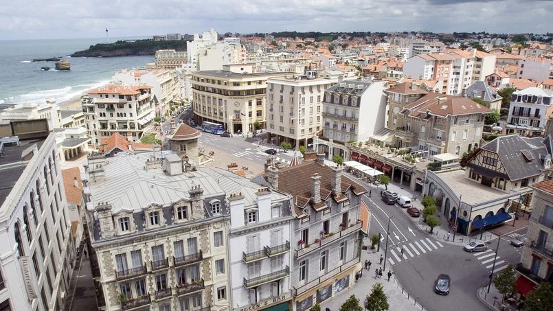 Ville de Biarritz, dans le département des Pyréenées-Atlantiques.