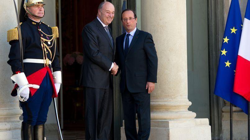 Jean-Michel Baylet et François Hollande crédit photo: BERTRAND LANGLOIS/AFP