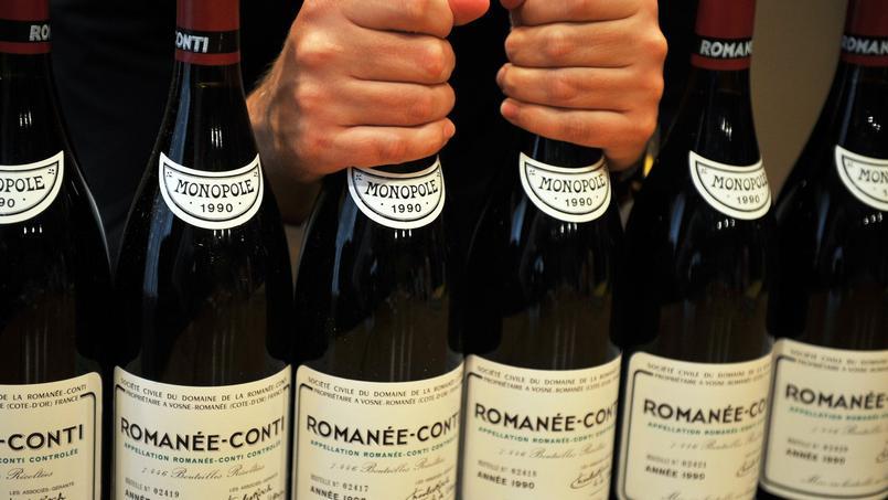 Le Romanée-Conti Grand Cru prend la deuxième place du classement, avec une bouteille au prix moyen de plus de 12.000euros (Crédit: Laurent FIEVET/AFP)