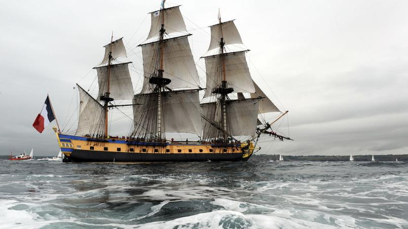 L 39 hermione de retour en france - Trois matelots du port de brest paroles ...
