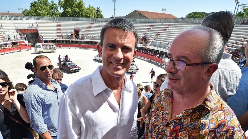 Manuel Valls à Vauvert, le 11 août 2015.