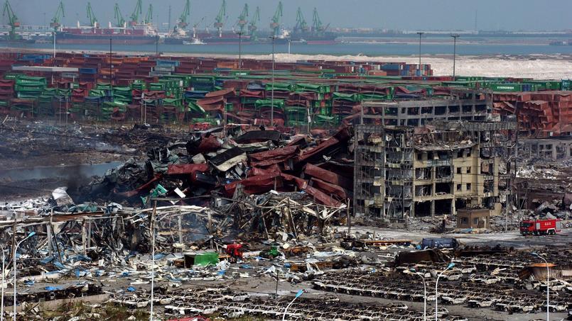 Tianjin, après les explosions meurtrières du 12 août.
