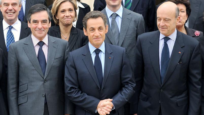 François Fillon, Nicolas Sarkozy et Alain Juppé à Paris, le 17 novembre 2010.