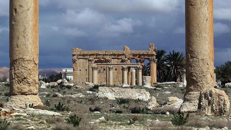 Le temple de Baalshamin à Palmyre, en Syrie a été détruit par le groupe État Islamique.