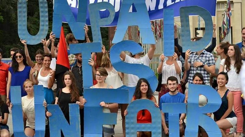 Le mouvement «Pay Your Interns», à Genève en 2015.