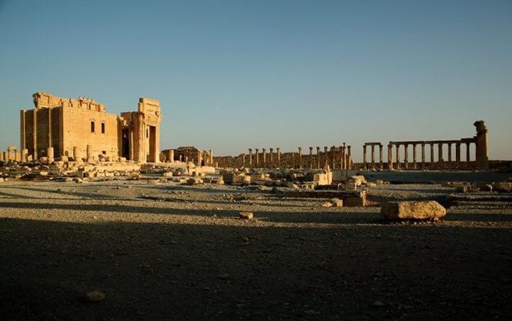 Le temple de Baalshamin à Palmyre, dynamité par Daech.
