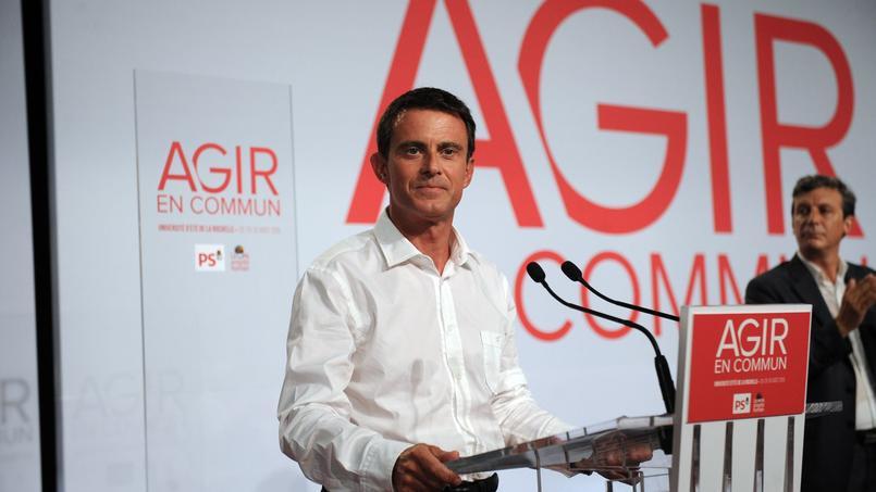 Manuel Valls, lors de son discours de clôture de l'université d'été du PS à La Rochelle, ce dimanche 30 août 2015.