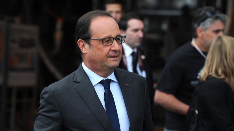 Le chef de l'État François Hollande en visite de l'usine du groupe français Air Liquide en août dernier.