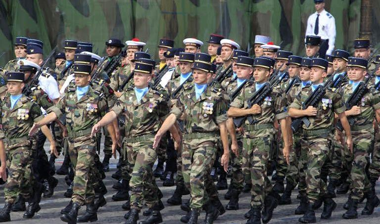Militaires français, lors du défilé du 14 juillet 2015.