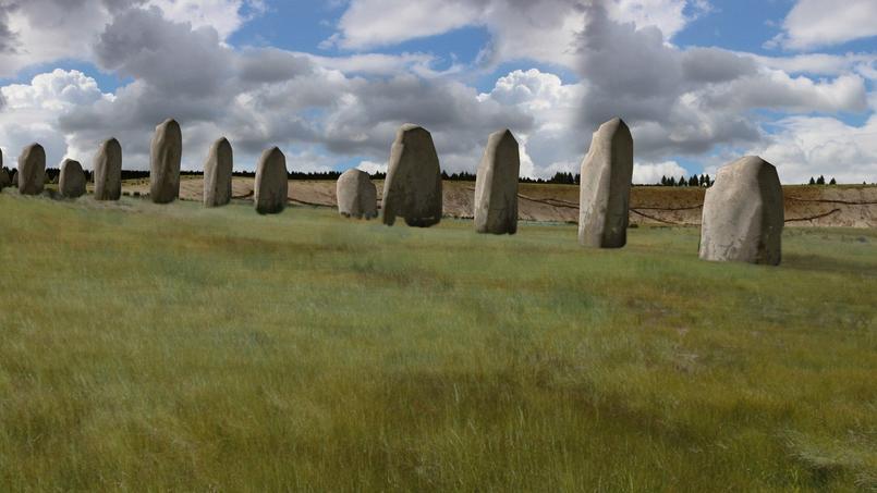 Les vestiges enterrés d'un grand monument préhistorique ont été découverts près du célèbre site britannique de Stonehenge.