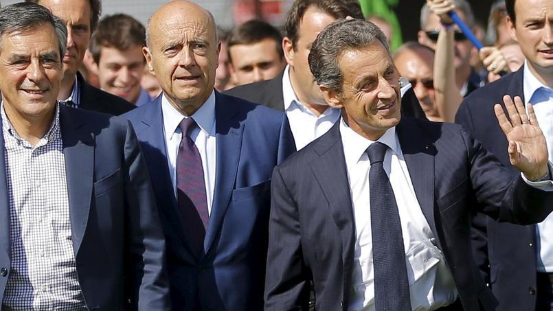 François Fillon, Alain Juppé et Nicolas Sarkozy, le 5 septembre à la Baule.