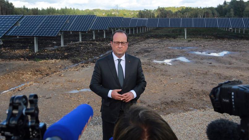 François Hollande a inauguré, vendredi 18 septembre, un nouveau parc solaire en Corrèze.