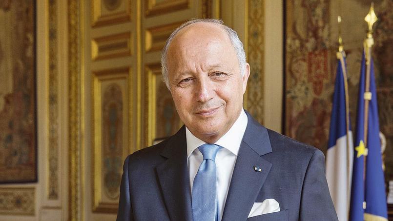 Laurent Fabius au Quai d'Orsay, le 20 août.