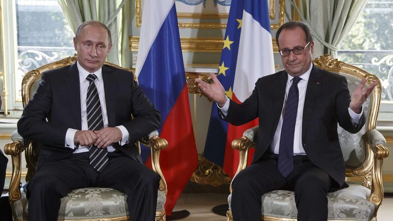 Vendredi, à Paris, l'entretien bilatéral entre Vladimir Poutine et François Hollande a duré plus d'une heure avant l'ouverture du sommet.