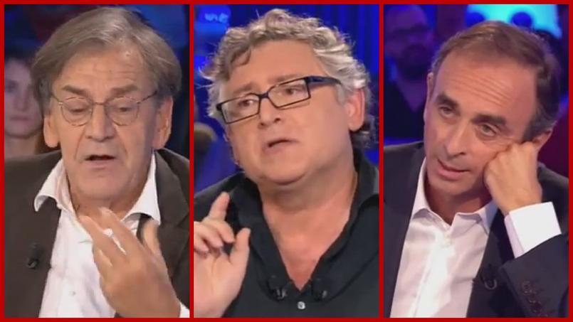 La Sainte-Trinité réactionnaire dans l'ordre alphabétique, Alain Finkielkraut, Michel Onfray, Eric Zemmour