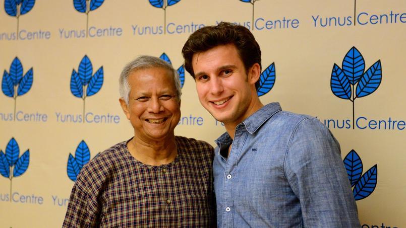 Muhammad Yunus et Ludovic de Gromard.