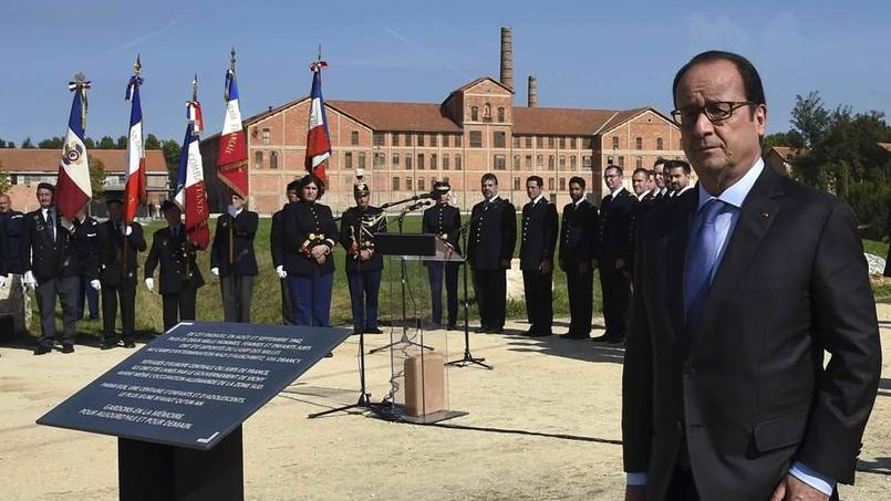 François Hollande au camp des Milles - 8 octobre 2015