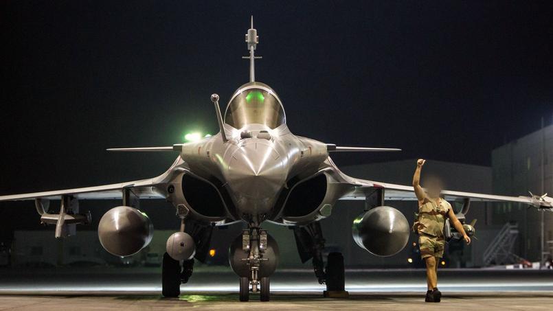 Un Rafale français s'apprête à décoller pour aller frapper Daech, le 9 octobre.