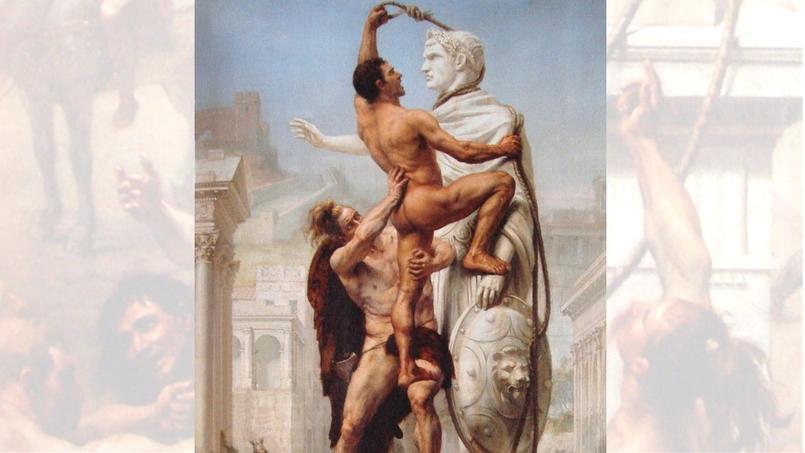 Le Sac de Rome par les barbares  en 410, Joseph-Noël Sylvestre, 1890. Musée Paul-Valéry, Sète.