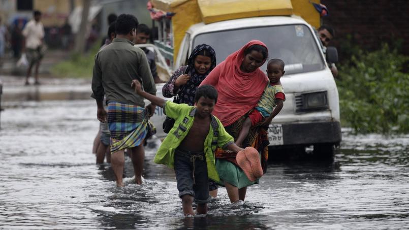 Inondations au Bangladesh. Ce pays est fondateur du groupe V20 des pays les plus menacés par le changement climatique.