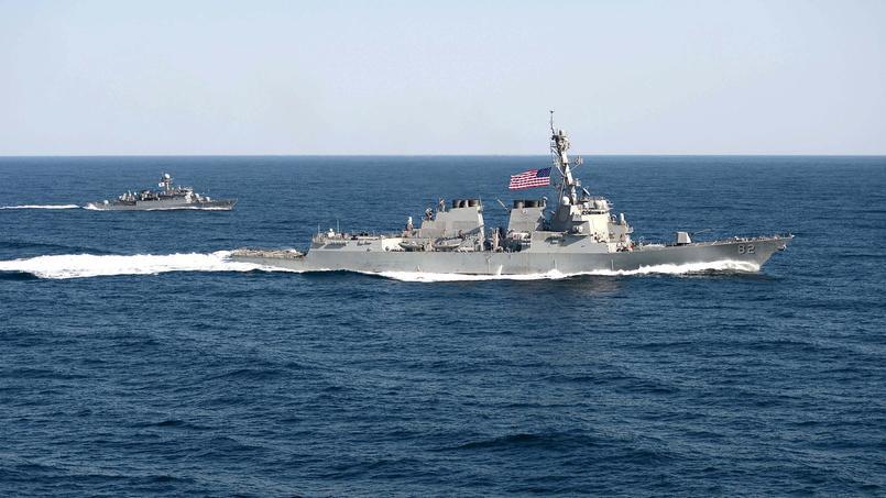Le navire lance-missiles américain, USS Lassen.