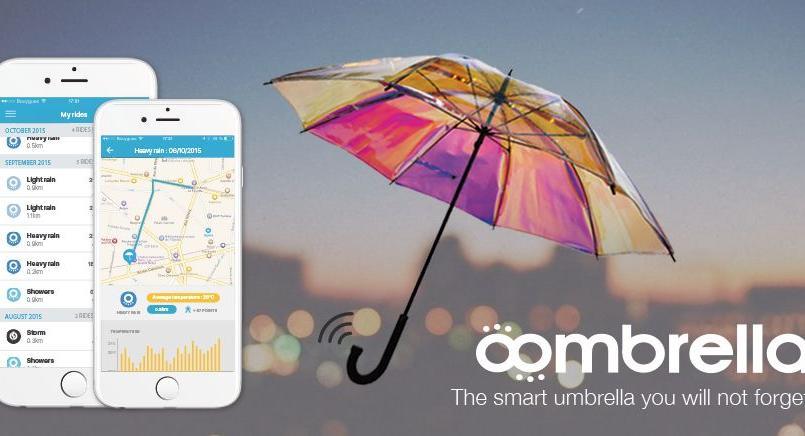Oombrella, le parapluie connecté qui aide à prévoir la météo