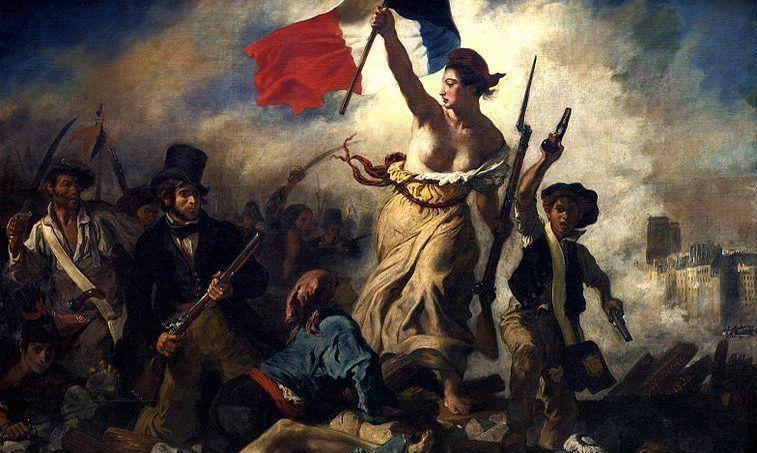 La Liberté guidant le peuple d'Eugène Delacroix réalisée en 1830