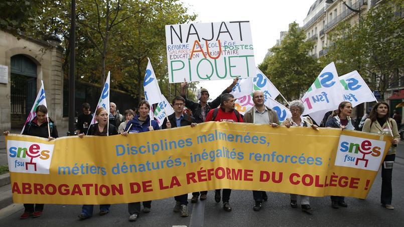 Manifestation contre la réforme du collège, 17 septembre 2015